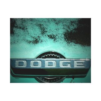 Classic Truck Badge in Turquoise Canvas Print