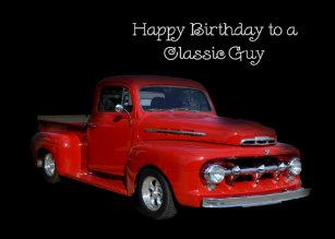 Classic Truck Dad Birthday Card