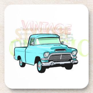 Classic truck in blue, very old semi pickup coaster