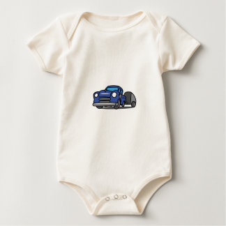 CLASSIC TRUCK WITH CAMPER BABY BODYSUITS