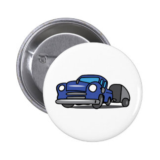 CLASSIC TRUCK WITH CAMPER PINBACK BUTTONS