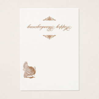 Classic Turkey Thanksgiving Place Card