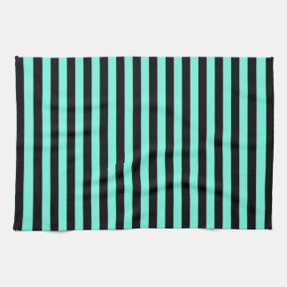 Classic Turquoise and Black Stripe Pattern Towels