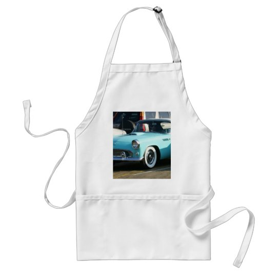 Classic Turquoise Auto Collctor Car Adult Apron