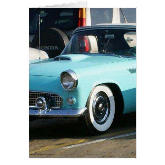 Classic Turquoise Auto Collctor Car Card