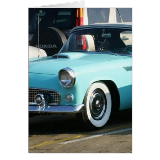 Classic Turquoise Auto Collctor Car Greeting Card