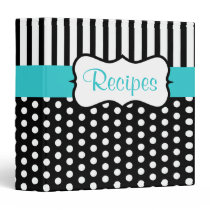 Classic Turquoise Black Recipe Binder