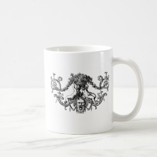 Classic Two Cherubs with Ivy and Flowers Coffee Mug