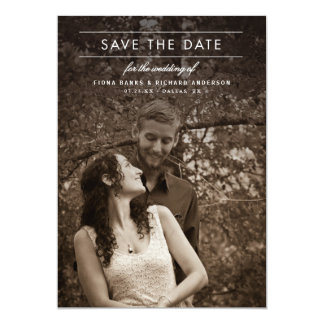 Classic Type Wedding Photo Save the Date Card