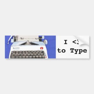 Classic Typewriter Bumper Sticker