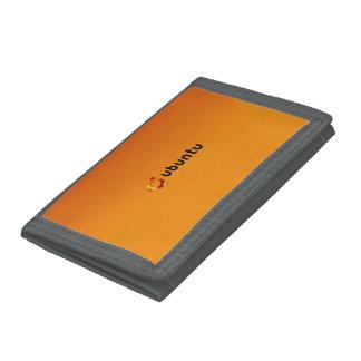 Classic Ubuntu Linux Orange gradient Trifold Wallet