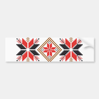 Classic Ugly Christmas Sweater Print Bumper Sticker