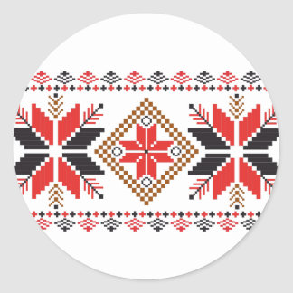 Classic Ugly Christmas Sweater Print Classic Round Sticker