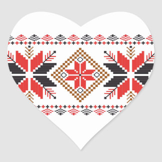 Classic Ugly Christmas Sweater Print Heart Sticker