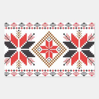 Classic Ugly Christmas Sweater Print Rectangular Sticker