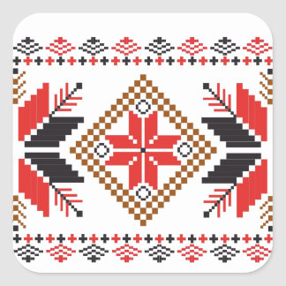 Classic Ugly Christmas Sweater Print Square Sticker