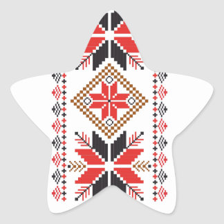 Classic Ugly Christmas Sweater Print Star Sticker