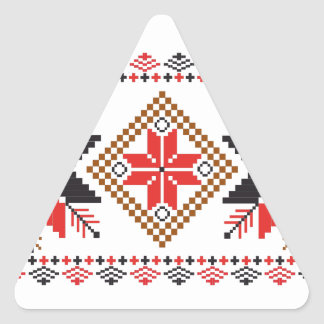 Classic Ugly Christmas Sweater Print Triangle Sticker