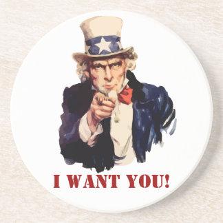 Classic Uncle Sam I Want You Coaster