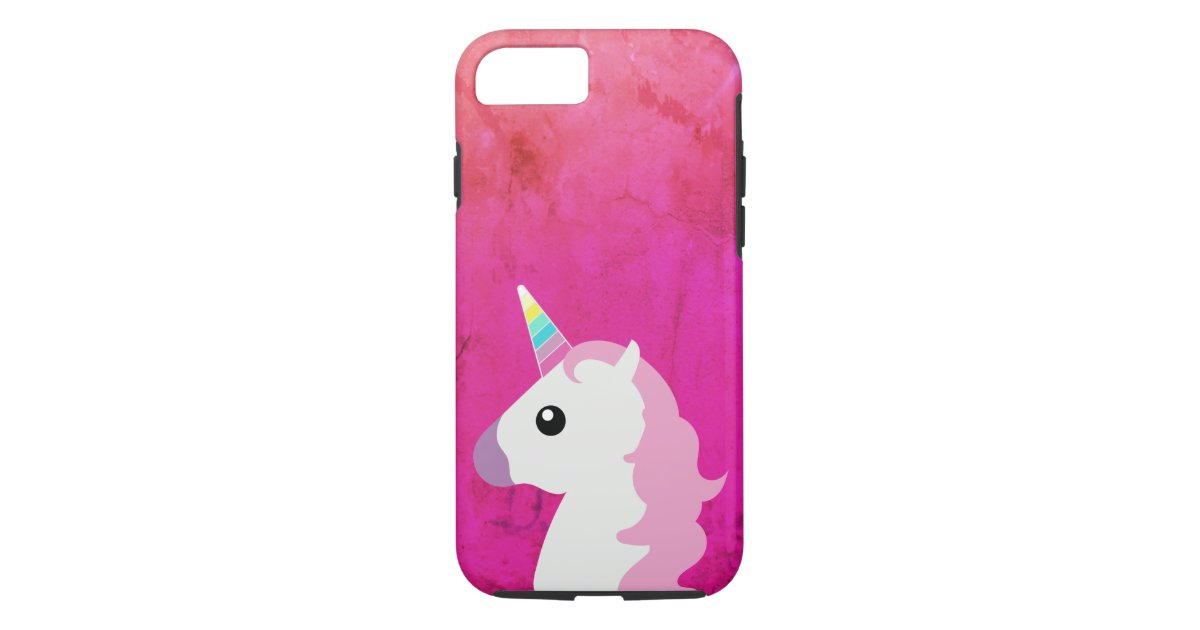 classic unicorn emoji pink iphone case
