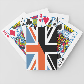 Classic Union Jack British(UK) Flag with Black Bicycle Poker Cards