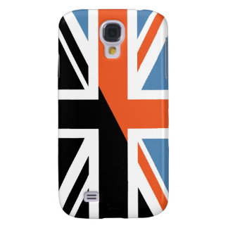 Classic Union Jack British(UK) Flag with Black Samsung Galaxy S4 Case