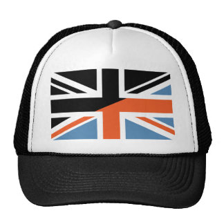 Classic Union Jack British(UK) Flag with Black Trucker Hat
