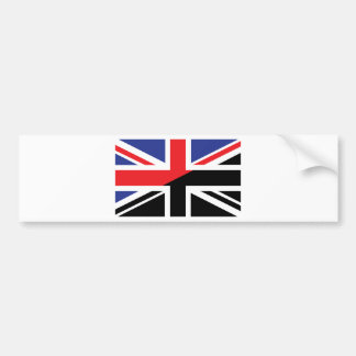 Classic Union Jack British(UK) Flag with Black & W Bumper Sticker