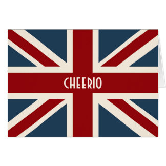 Classic Union Jack Flag Card
