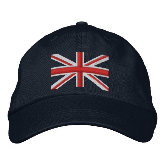 Unisex Burgundy London England Union Flag Cap C285