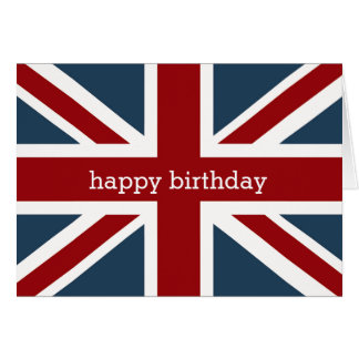 Classic Union Jack Flag Happy Birthday 2 Card