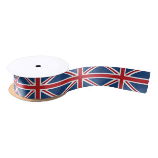 Classic Union Jack Flag Satin Ribbon