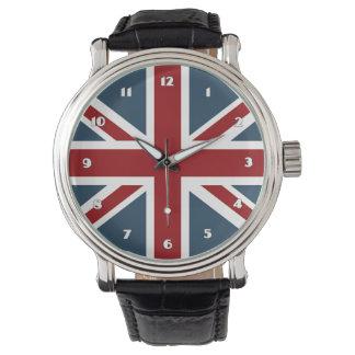 Classic Union Jack Flag Wristwatch