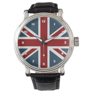 Classic Union Jack Flag Wristwatches