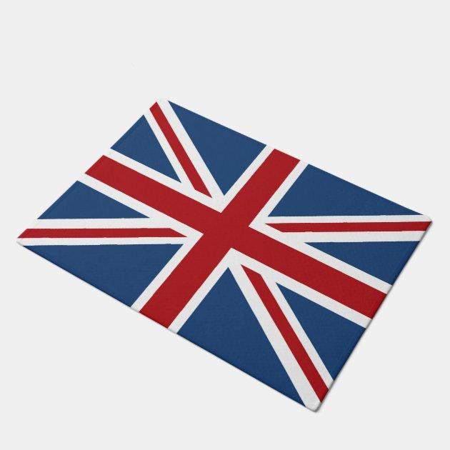 Classic Union Jack Uk Flag Doormat Zazzle