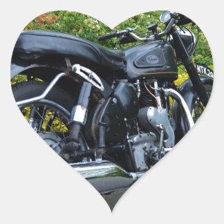 Classic Velocette Venom Heart Sticker