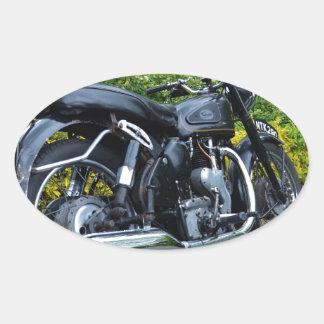 Classic Velocette Venom Oval Sticker