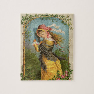 Classic Victorian Etching - Summer Shower Jigsaw Puzzle