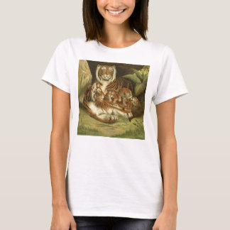 Classic Victorian Etching - Tigers T-Shirt
