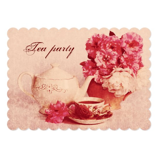 Classic Victorian Grunge Tea Party Invitation