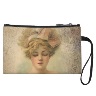Classic Victorian Lady With Roses Mini Clutch