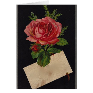 Classic Victorian Tea Rose Stationery Note Card