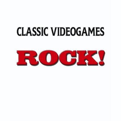 Classic Videogames Rock tee shirt