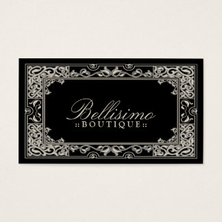 Classic Vignette Business Card Design (black)