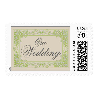 Classic Vignette Our Wedding Postage (apple)