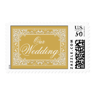 Classic Vignette Our Wedding Postage (gold)