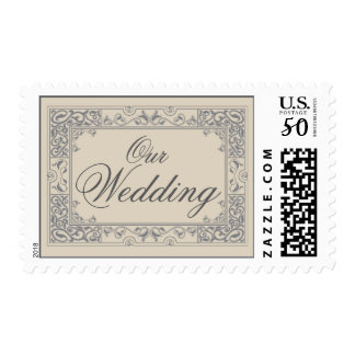 Classic Vignette Our Wedding Postage (grey)