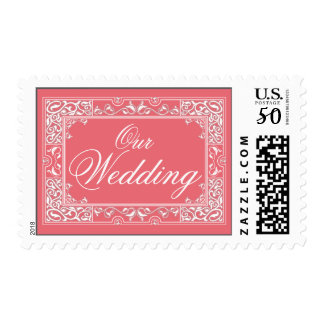 Classic Vignette Our Wedding Postage (pink)