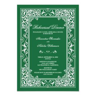 Classic Vignette Rehearsal Dinner Invite (green)
