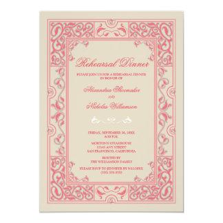 Classic Vignette Rehearsal Dinner Invite (pink)